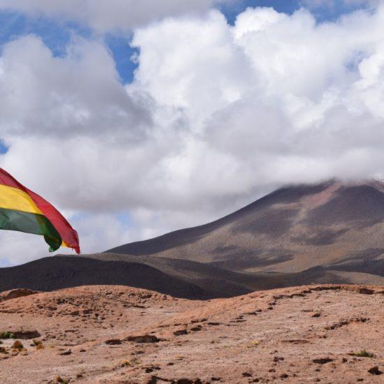 bolivie drapeau paysage