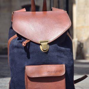 sac à dos urbain bleu