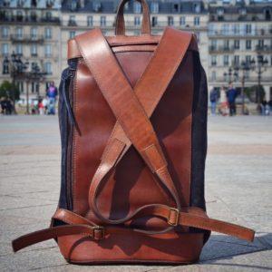 sac à dos élégant en cuir