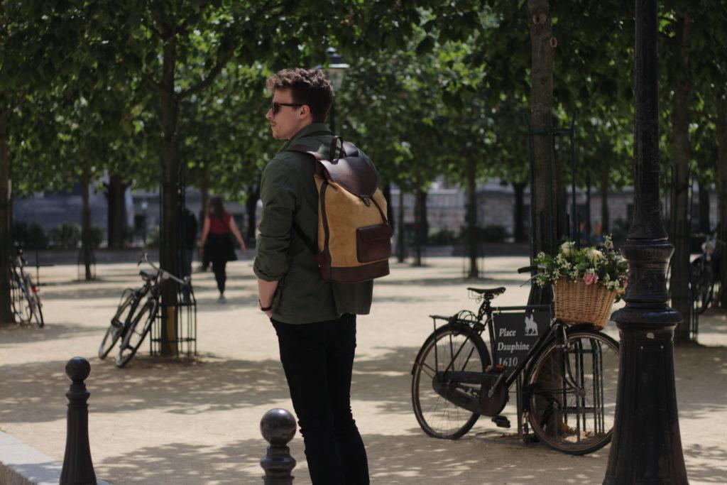 sac à dos joe safari pachamama vélo place dauphine paris urbain ville tendance élégant casual chic