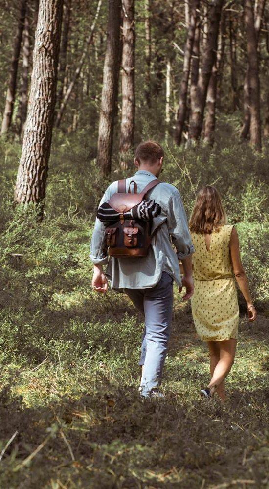 sac à dos gabi gris pachamama promenade vacances pins arbre