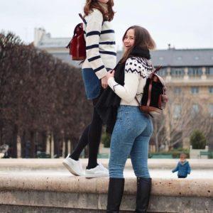 sac à dos urbain cuir femme balade ville