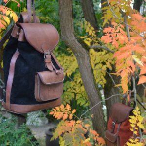 sac à dos bohème cuir vintage femme