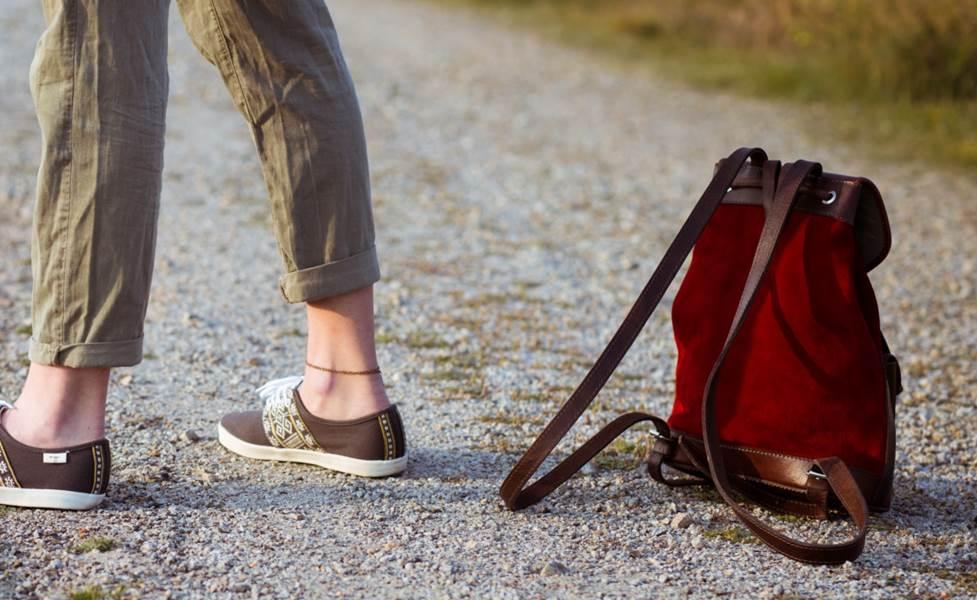 sac à dos lou carmin PACHAMAMA roadtrip chaussures n'go