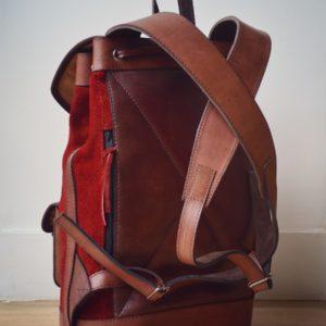 sac à dos cuir rouge élégant style tendance
