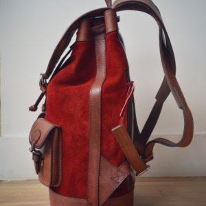 sac à dos gabi rouge ville urbain citadin pachamama
