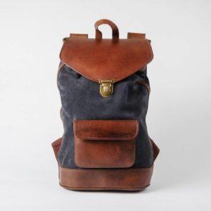 sac à dos joe gris pachamama vintage tendance rétro pratique fonctionnel élégant cuir velours nubuck