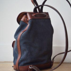 sac à dos cuir gris marron bohème