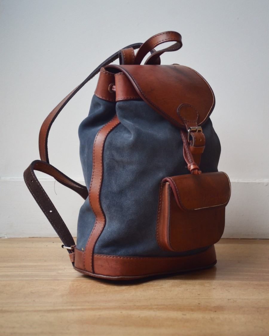 sac dos en cuir femme boh me chic lou anthracite pachamama. Black Bedroom Furniture Sets. Home Design Ideas