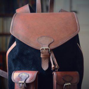 sac à dos cuir vintage