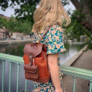 sac à dos orange femme