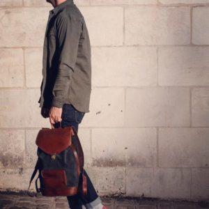 sac à dos cuir citadin urbain rétro voyage