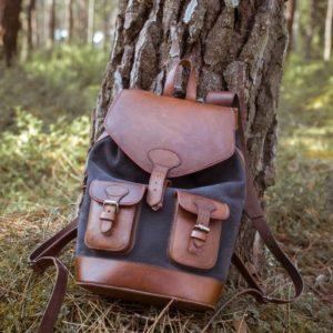sac à dos gabi anthracite pachamama forêt pins