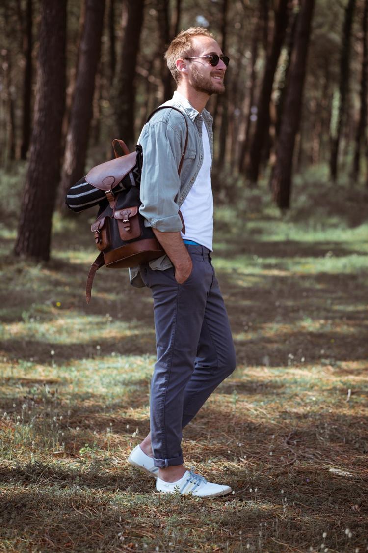 sac à dos gabi anthracite pachamama forêt sourire vacances balade promenade