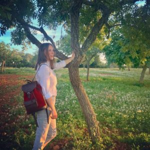 sac à dos lou carmin pachamama nature campagne élégant tendance coucher de soleil
