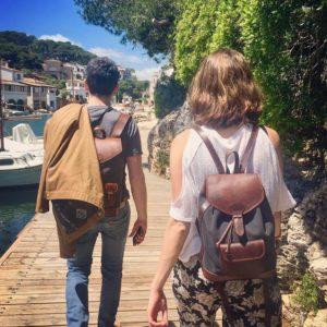 sac à dos gabi lou gris pachamama port balade soleil vacances farniente