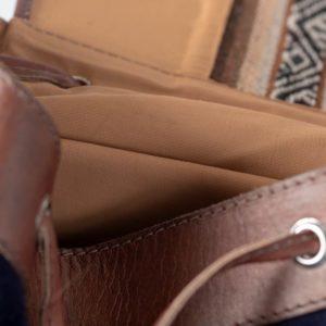 sac à dos gabi bleu nuit pachamama détails doublure aguayo élégant discrêt