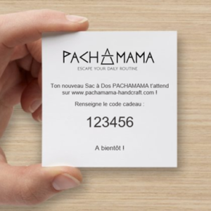 carte cadeau produit pachamama