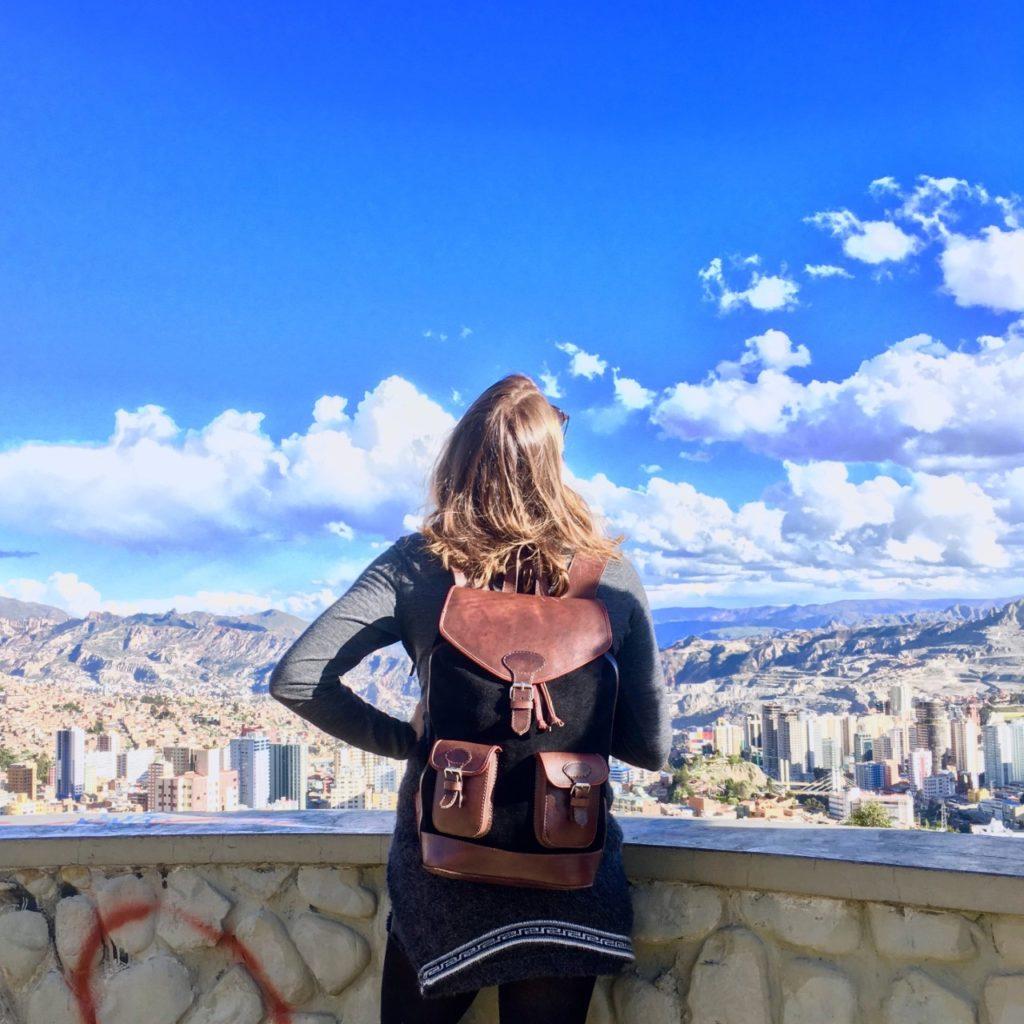 sac à dos urbain voyage pachamama cuir tendance retro