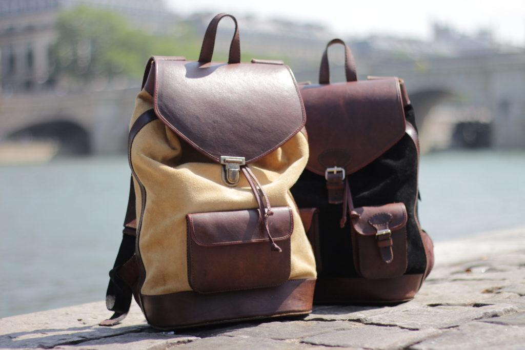 sacs à dos pachamama cuir rétro élégant