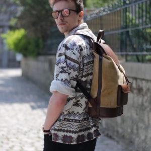 sac à dos éthique urbain style baroudeur pachamama