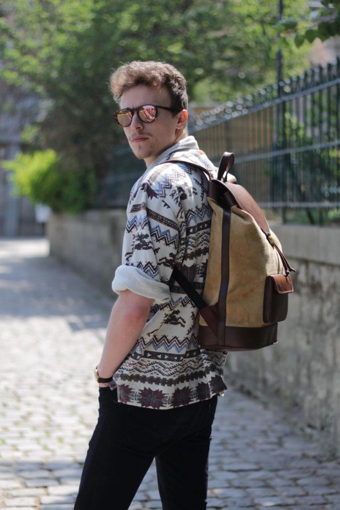 sac à dos nubuck homme