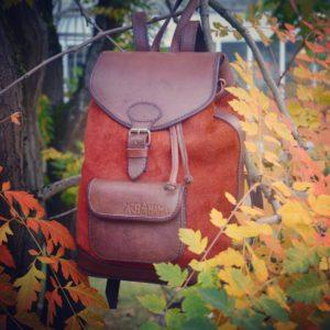 sac à dos cuir automne pachamama boho