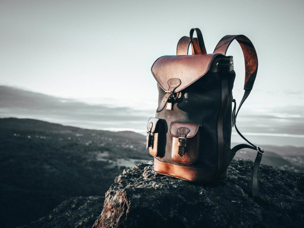 sac à dos cuir voyage pachamama
