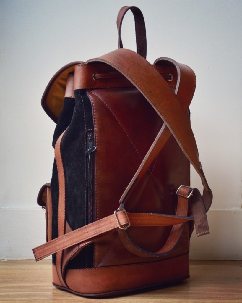 leather backpack pachamama black