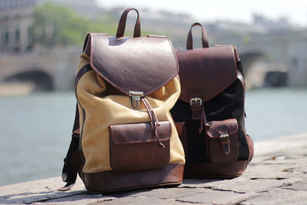 pachamama leather backpack