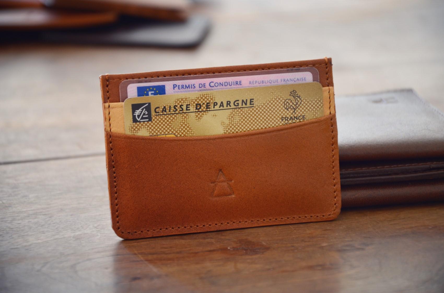 leather cardholder pachamama