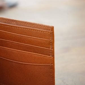 portefeuille en cuir marron clair