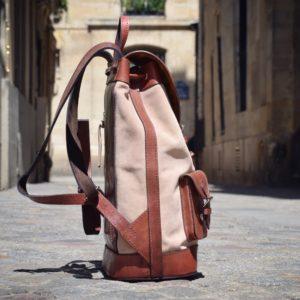 sac à dos nubuck cuir