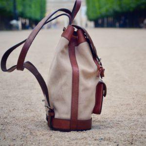 sac à dos en cuir bohème
