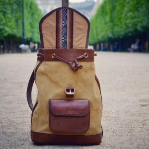 sac à dos bohème en cuir