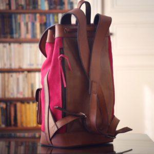 sac à dos cuir rose