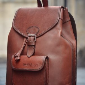 sac à dos en cuir marron femme