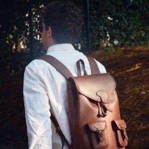 pachamama sac à dos cuir homme