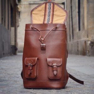 sac à dos en cuir pachamama