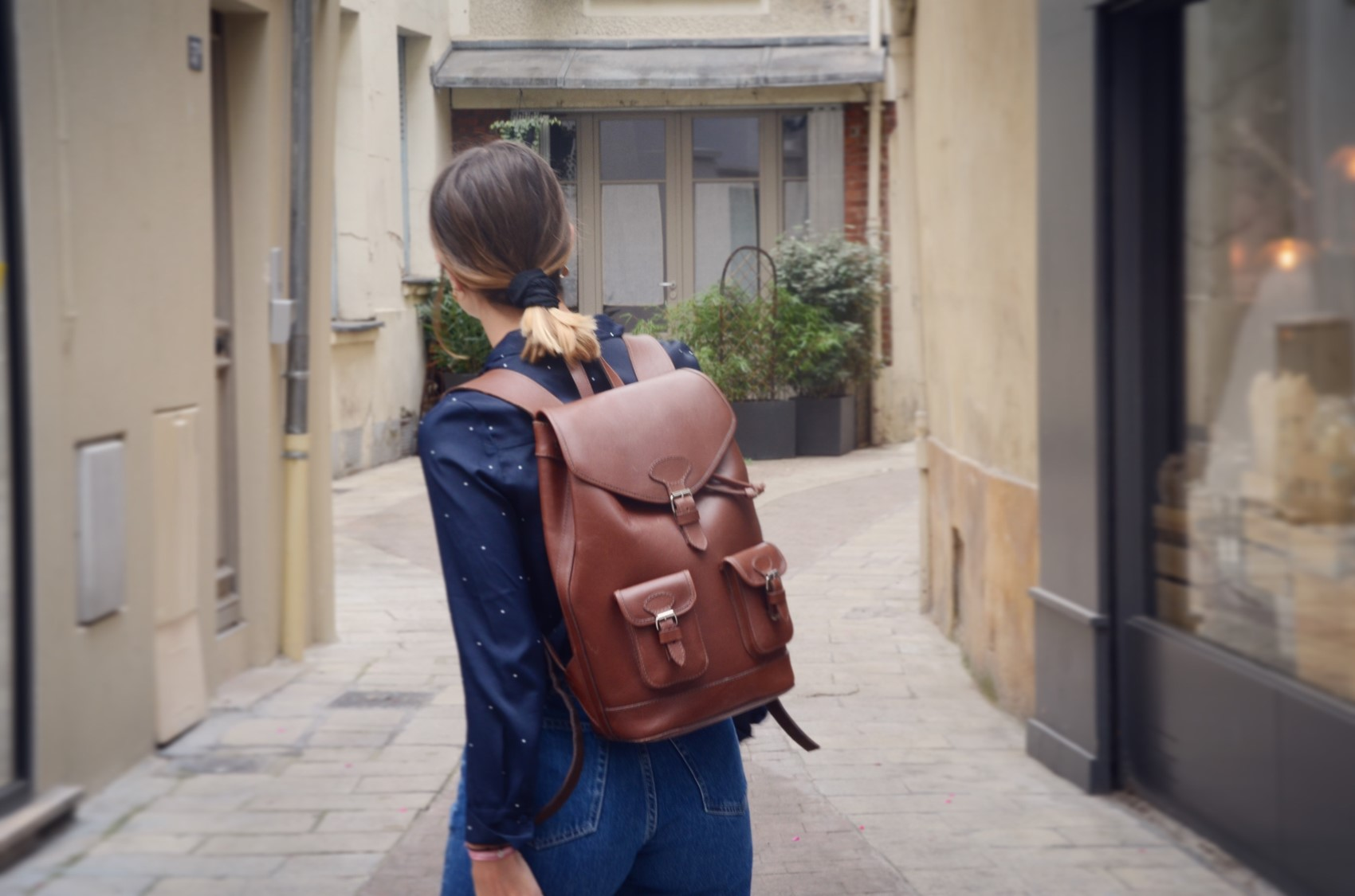 sac à dos urbain en cuir pachamama