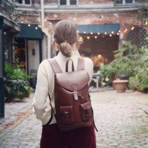 pachamama sac à dos cuir femme