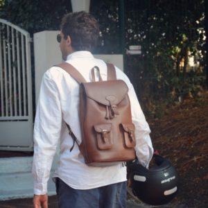sac à dos en cuir homme
