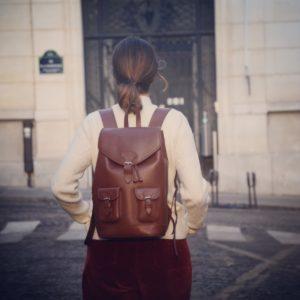 sac à dos urbain en cuir femme