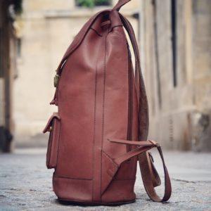 pachamama sac cuir marron homme
