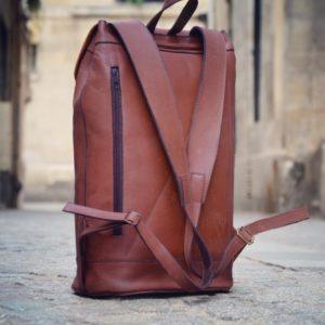 sac à dos homme cuir marron
