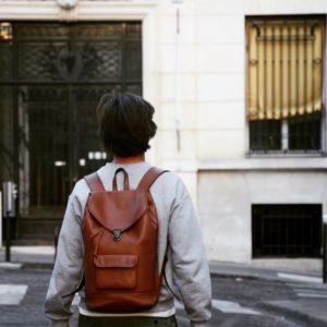 sac à dos cuir urbain pachamama