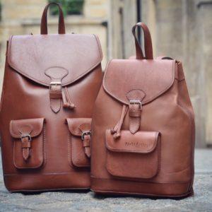pachamama sacs à dos cuir marron