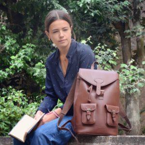 sac à dos cuir pachamama femme