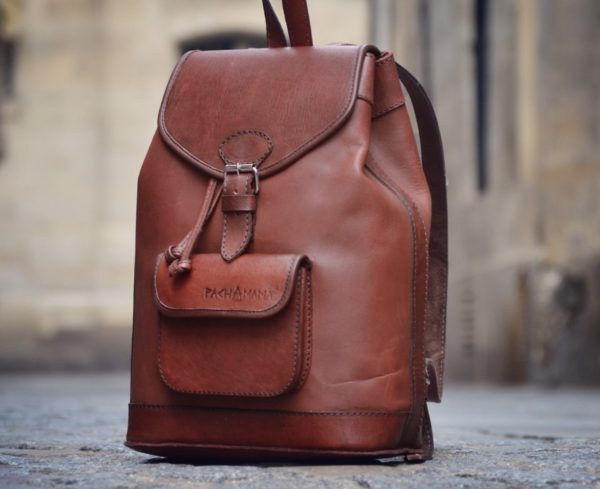 sac à dos vintage en cuir