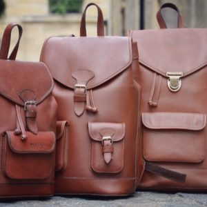 sacs a dos vintage cuir marron